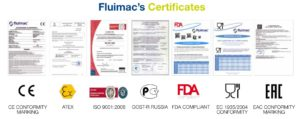 Quality certificates from Fluimac