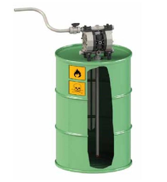Air drum pump by Fluimac