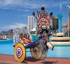 Durban South Africa picture of rickshaw